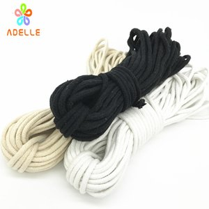 White Black Natural color 3 4 5 6mm braided cotton rope with strong core cotton cord handle pulley bondage free shipping 90m