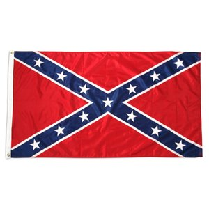 Direct factory wholesale ready to ship US 90x150 cm 3x5 ft civil War battle dixie Confederate Rebel Flag