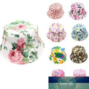 MUQGEW Toddler Baby Kids Boys Girls Floral Pattern Bucket Hats Sun Helmet Cap Summer accessories