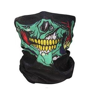 Череп Волшебной маска Halloween Cosplay маски велосипедов Череп Половина маска Призрак шарф Бандан Neck Warmer партия оголовье Магия повязки DWD1130