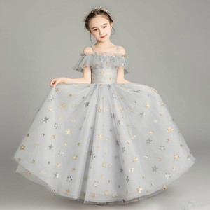 2020 Fashion Summer Chiffon Girls Pageant Dresses for Teens Tulle Flower Girl Dress Formal Kids Prom Party Gowns