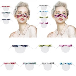 7 Colore sordomuto faccia trasparente mascherina mascherine antipolvere riutilizzabili antiappannamento Earloop Cancella Lip PVC stampato Mask 120pcs DHC1002