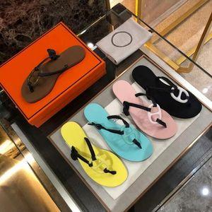 2020 donne di marca pantofola migliori sandali piatti donne in PVC piatto fondo h pantofole spiaggia jelly flip-flop scarpe spiaggia femminile 36-40