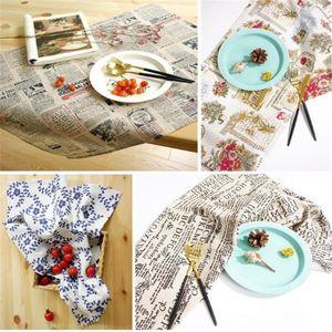 OMGST moda 4Pcs / Set tovaglioli Alberi Tovaglia fotografia sfondo di lino Guardanapo De Tecido Para Mesa Asciugamano