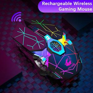 X13 Wireless Gaming Mouse 2,4 GHz 5.0 USB rechargeable Lumière Souris sans fil Silencieux lumineux Memoranda mécanique