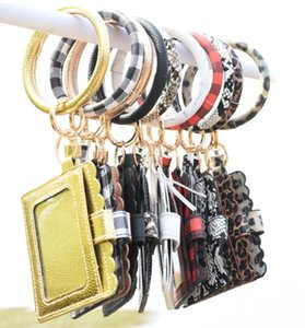 Bracelet Purse Keychain Women Tassels Bracelets PU Wrap Key Ring Bangle Wristlets Coin Purses Card Holder Fashion Accessories GGA3634