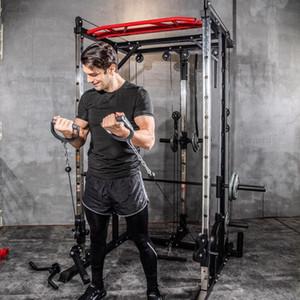 2020 Nova Smith aço máquina de agachamento rack de pórtico quadro home fitness dispositivo de treinamento abrangente de agachamento livre supino frame.1