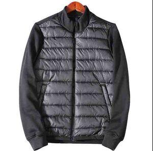 Fashion Luxury Mens Zipper Nero Inverno Stile Britannico Giacca Cappotto con cappuccio Cappotto con cappuccio Classico Tenere calda spessa Parka Taglia S-XXL