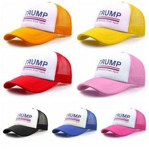 Trump 2020 Mesh Baseball Cap Donald Adjustable Snapback Ball Hats Summer Mesh Sun Visor Beach Fishing Sports Tennis Caps 30pcs LJJA4800