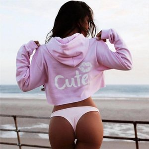 Sexy Black Pink Hoodies Women Slim Bodycon Young Lady Hooded Coat Long Sleeve Cropped Hoodie Pullover Woman Sweatshirts