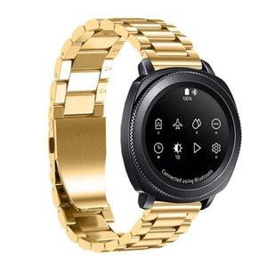 20mm banda de acero inoxidable correa de reloj de Samsung Gear Deporte / S2 Classic R732 R735
