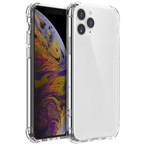Caso de telefone transparente à prova de choque à prova de choque de pára-choques dura tampa traseira para iphone 12 mini 11 pro xs max xr 8 plus samsung s20 note20
