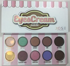10pcs Newest Dose of colors eyeshadow eyescream palette 10 colors waterproof top quality free shipping