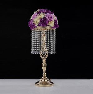 70 centimetri con strass Candelabri Wedding Party Candle Holder Elegante Abbastanza centro tavola Vaso basamento del Candeliere di cristallo nuziale della EEA1906