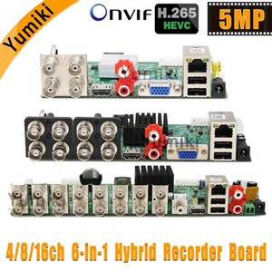 6 en 1 H.265 + 16ch / 8CH / 4CH AHD carte DVR pour AHD 5MP 4MP 1080P 720P Caméra RAM HDD économisez gros Xmeye ONVIF Board DVR CCTV