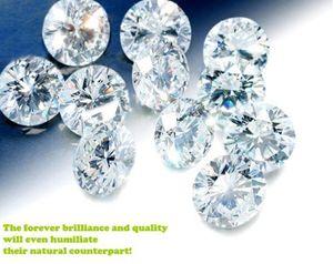 جولة بريليانت المويسانتي فضفاض الماس 0.5ct 1CT 2ct 3CT D اللون VVS1 ممتازة قطع الإكسسوار مجوهرات 2020 بالجملة خاتم الزواج حلق