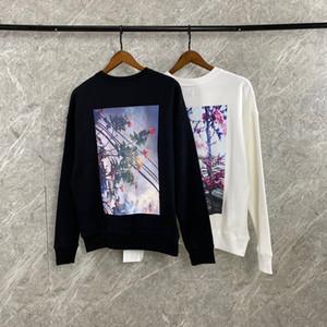 20FW FEEAR OFF GOOD ESSENTIALS Blumendrucken Raglanärmeln Sweatshirt Vintage-Street Fashion Männer Frauen Paar lose Strickjacke HFXHWY176
