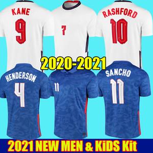 2021 England Euro 2020 RASHFORD Gomez pullover di calcio Euro KANE STERLING 20 21 Squadre Nazionali Sancho Dele Cup di calcio Camicie Uomo Bambini kit uniformi