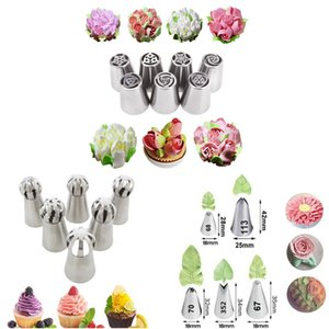 7Pcs set Stainless Steel Cake Icing Piping Nozzle Basket Weave Pastry Tips Cake Cream Cupcake for Sugar Craft Decorating Tools