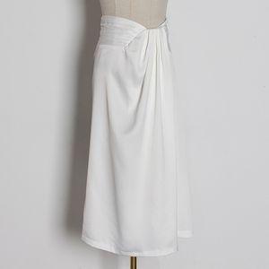 витая сплошная цвет юбки платье женской одежды средней длина высокой талия Slim Fit раздвоение бедра юбки витых женщин для женщин осени 2020 WG