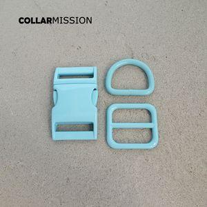 Розничная торговля (металлическая пряжка + регулировка пряжки + D кольцо / комплект) DIY ошейник синего 25мм тесьма швейная аксессуар спрей краска пряжка набора
