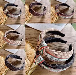 Тесьма для волос Женщины Простой Письмо нашивки Bow Knot Hairband Solid Cross Knot Head Hair обруча Корея Простые Сладкие девушки оголовье аксессуары
