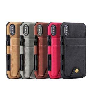 Cgjxsbuckle Up And Down Wallet Case Total Package Side et épais d'affaires pour Iphone Xs Max Xr Xs Et iPhone6 6p 7 8 Plus flip -Open Cover P