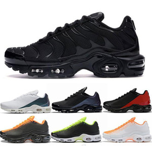2020 TN Plus Ultra Se Mercurial Hommes Running Chaussures Chaussures Triple Black Volt Hyper Blue Hommes Baskets Sneakers Sports sportifs sportifs Taille 40-46