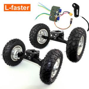 L-빠른 36V 전기 산 스케이트 보드 허브 모터 트럭 오프로드 스케이트 보드 전기 허브 모터 휠 9x3.50-5 타이어