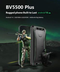 "Blackview 2020 New BV5500 Plus IP68 Waterproof 4G Mobile Phone 3GB+32GB Android 10.0 Phone 5.5"" Screen 4400mAh Rugged Smartphone"