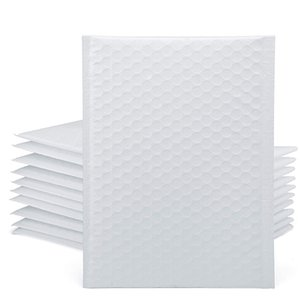 25 Pcs Co-Extrusion Film Bubble Bag Waterproof and Dustproof Bag Thickened Packaging Express Bag(White)