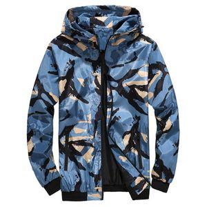 Herren Jacke Camouflage Designer dünne mit Kapuze Langarm Mäntel beiläufige Sunscreen Breathable Mann-Oberbekleidung mit Reißverschluss Dropshipping