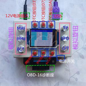 outil de développement ELM327 OBD, simulateur automobile ECU ECU avec écran LCD 2,2 pouces
