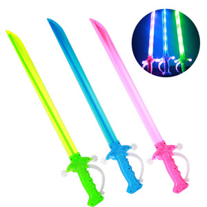With Children Belt Scabbard LED Wisdom Toy Weapon Light For Swords Toy Sword Prop Birthday Gift Party Stage Kids Sword Light Clsdb