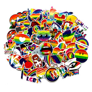 5 Sets = 500PCS Colorful Graffiti Stickers Rainbow Love Stickers Water Cup Refrigerator Car Computer Waterproof Stickers