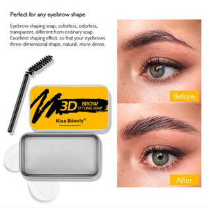 3D Пернатого Eye Brow макияж бальзам Styling Бровь мыло Kit Бровь Установка Гель Водонепроницаемые Продолжительный Оттенок помада Косметика