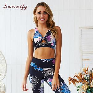 Blackarachnia Новая мода женщины Спортивная йога наборы 2 шт сексуальный бюстгальтер йога штаны тренировки женской одежды Gym Set Sport Tracksuit