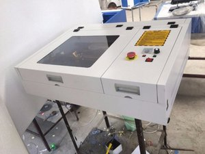 50W CO2 Laser-Graviermaschine 4040 Laserschneidmaschine 40 * 40cm Arbeits Formateinzeichnung diycnc Gravur h3J5 #