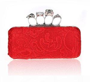 Designer-Frauen-Handtasche Damen Abendtasche für Party-Tageskupplungen Knuckle Boxed Clutch-Bag Kristall Clutch Bag Cvening für Hochzeiten HQB1716