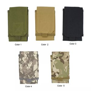 Multifunctional tactical camouflage belt bag mobile phone bag outside running pockets