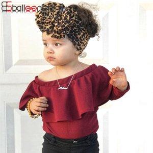 Leopard Stretch Fascia per capelli fascia del bambino dei bambini della moda di New BalleenShiny del grande arco largo Headwear ragazza dei capretti Accessori per capelli