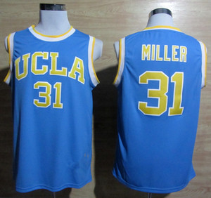 NCAA0 Russell Westbrook 11 Reggie Miller Jersey di pallacanestro irlandese High School di LeBron James 23 Allen Iverson 3 North Carolina State University