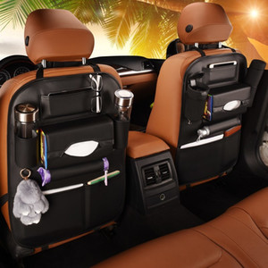 2020 New Car seat back storage Organizer bag Universal PU Leather Multifunction storage box Stowing Tidying Pocket Auto Styling