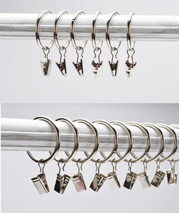 Curtain Clips Hooks Home Decoration High Qaulity Shower Curtain Rings Clamps Drapery Clips Bath Curtain Rod Clips Window 771 219