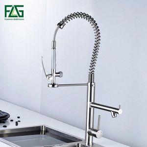 FLG cuisine Brosse robinet mélangeur retirer Torneira du robinet évier de cuisine nickel cozinha robinets retirent robinet 1iMX #