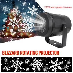 Navidad del copo de nieve de luz láser nevadas nieve Mueva el proyector al aire libre cubierta de proyección láser Jardín Luces Año Nuevo Partido de los decoros