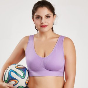 Soutien-gorge sport Femme Gilet seamless Rimless double couche de grande taille Matériel Bras confortable et respirante