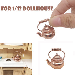 High Quality Retro Kettle Pot Open Lid Dollhouse Miniature Re-ment 1:12 Scale Fairy Home funny Kids Toy Gift Z0306