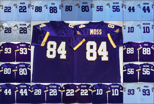 NCAA Football vintage costurado mens Jerseys Randy Moss 88 ALAN PRINCIPAL 80 Cris Carter 56 Chris Doleman 44 Chuck Foreman 28 Adrian Peterson