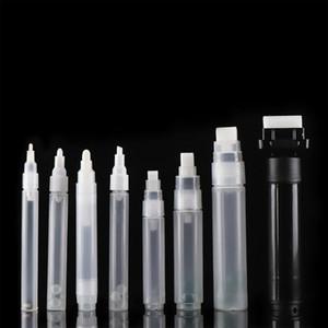 Plástico Vazio Pen Rod 3 MM 5mm 6.5mm 8mm 10mm Barris Recarregáveis Tubo Tubo Graffiti Liquid Chalk Markers de Pintar Acessórios